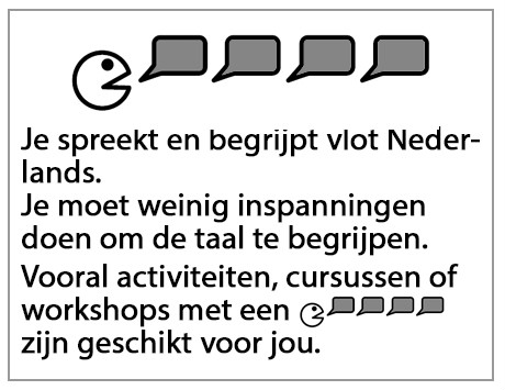 Je spreekt en begrijpt vlot Nederlands...